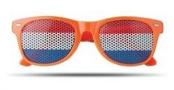 oranje zonnebril met vlag