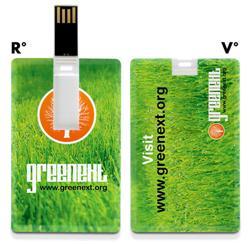USB stick in de vorm van een creditcard. Compacte usb stick full colour te bedrukken.